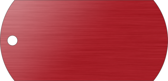 PACOTE DE PLACAS MILITAR-(QTD: 5)-VERMELHA-ESCOVADA