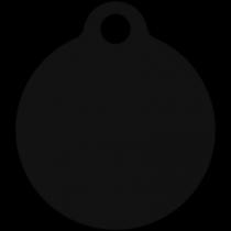 PACOTE DE PLACAS MEDALHA PEQUENA-(QTD: 5)-PRETA-JATEADA