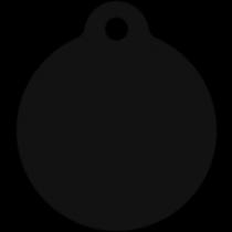 PACOTE DE PLACAS MEDALHA GRANDE-(QTD: 5)-PRETA-JATEADA