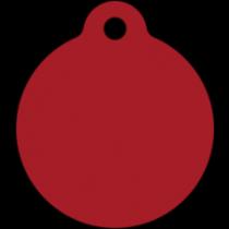 PACOTE DE PLACAS MEDALHA GRANDE-(QTD: 5)-VERMELHA-JATEADA