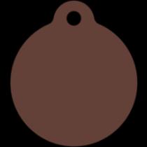 PACOTE DE PLACAS MEDALHA GRANDE-(QTD: 5)-MARROM-JATEADA