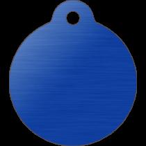 PACOTE DE PLACAS MEDALHA GRANDE-(QTD: 5)-AZUL-ESCOVADA