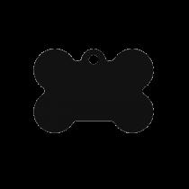 PACOTE DE PLACAS OSSO PEQUENO-(QTD: 5)-PRETA-JATEADA