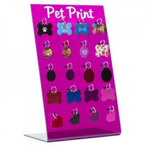 DISPLAY DE PLACAS PET PRINT (SEM PLACAS) - ROSA